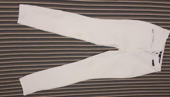 Białe bryczesy Euro star, rozmiar 34