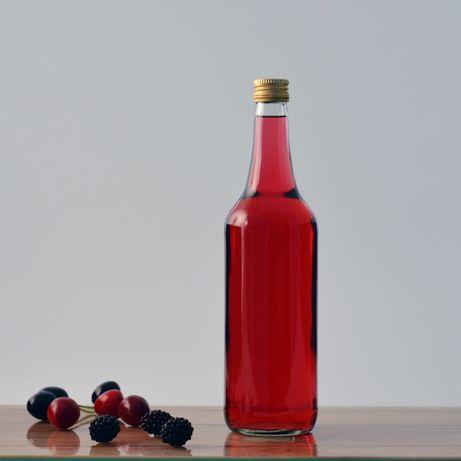 NOWE butelki do alkoholu soku wódki nalewki - Butelka 0,7L Zakrętka