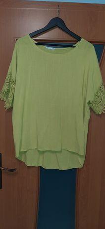 Bluzka w kolorze musztardowym xxl