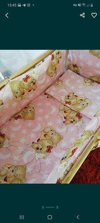 Набор постельного в кроватку для девочки