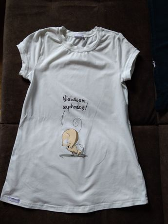 Bluzka / koszulka ciężowa / dla przyszłej mamy Zaraz wychodzę XS/S