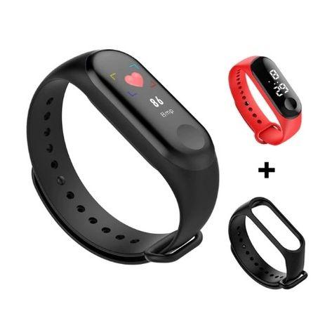 Smart Watch Smart Band M3 + Gratis zegarek LED + Gratis zapasowy pasek
