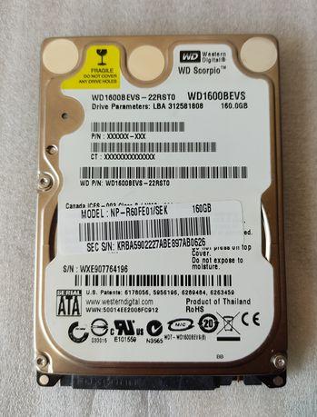 Жёсткий диск  для ноутбука 160 Гб