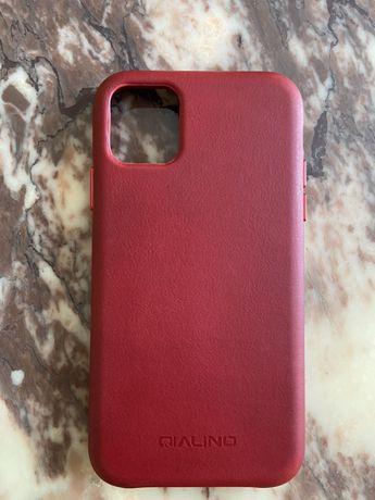 ПРЕМІУМ чехол Apple IPhone 11 НАТУРАЛЬНА шкіра