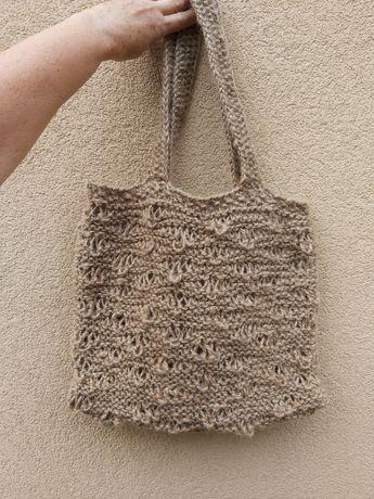 Eko Torba ze sznurka naturalnego. Handmade. Hit.