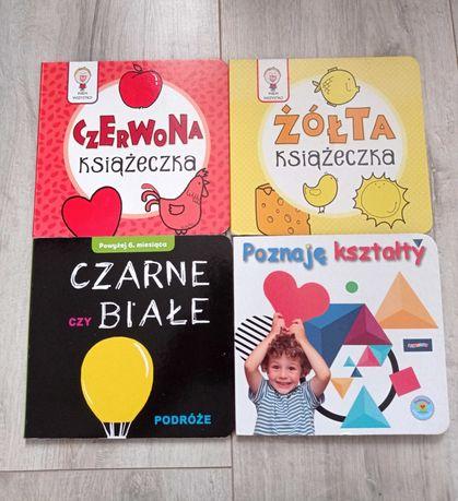 Książeczki kontrastowe kolory i kształty.