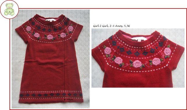 2-3Anos Menina, Outono/Inverno - vestidos, pijamas e fato de treino