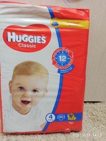 Продам підгузники / подгузники Huggies Classic 4 (7-18кг) 82шт.