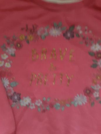 Bluzka pastelowy róż 134cm