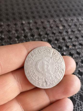 Tymf Złotówka Jana Kazimierza 1664r. stara polska srebrna moneta