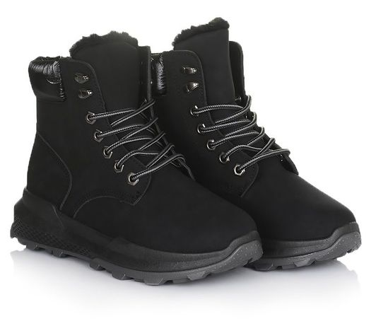 Черные женские ботинки зимняя обувь зима 36 37 38 39 40 41