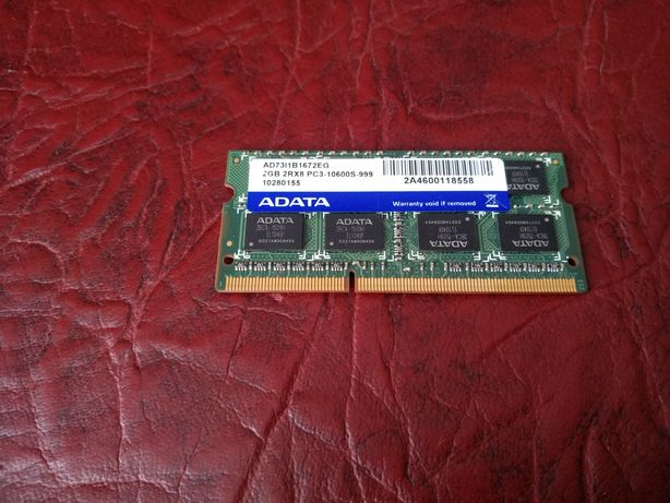 Оперативная память для ноутбука SODIMM ADATA DDR3 2Gb 1333MHz