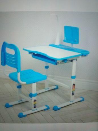 Парта детская школьный письменный стол с лампой Растишка ортопед.нак