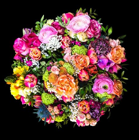 Ramo de Flores 50x50 cm ate 80x80 cm Quadro Fotografia Alta qualidade