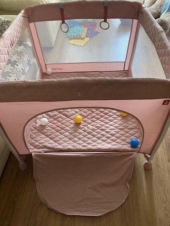 Продам детский розовый манеж Carrello