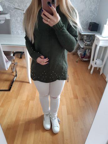 sweter zieleń tunika S