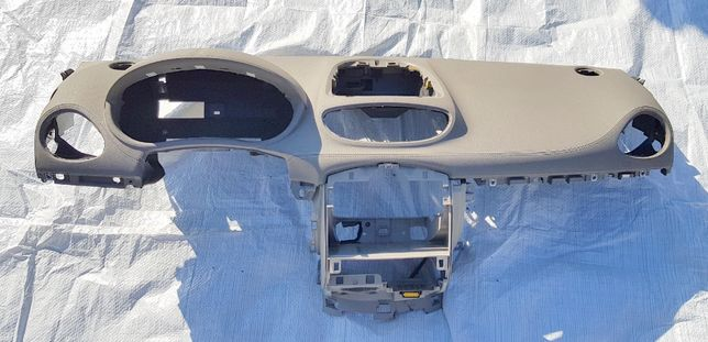 Oryginał Renault Clio 3 III deska konsola kokpit jasna skóra beż szar