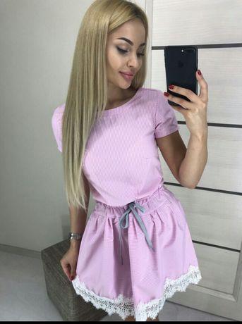 Платье нежно фиолетовое