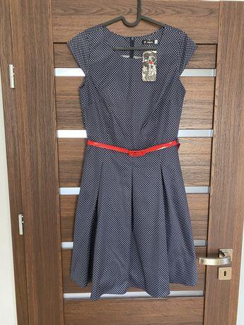 Sukienka w groszki NOWA! R. 40