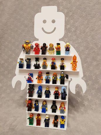Półka na klocki ludziki Lego stojąco wisząca + gratis breloczek