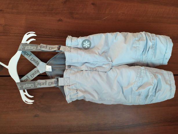 Spodnie zimowe na szelkach