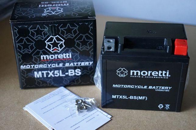 Nowy akumulator MTX5L-BS(MF) 12V 5Ah Motor motocykl skuter