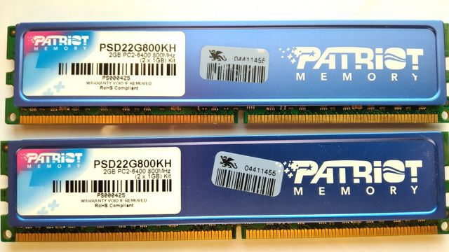 DDR2 PATRIOT 2x 1 GB  800MHz