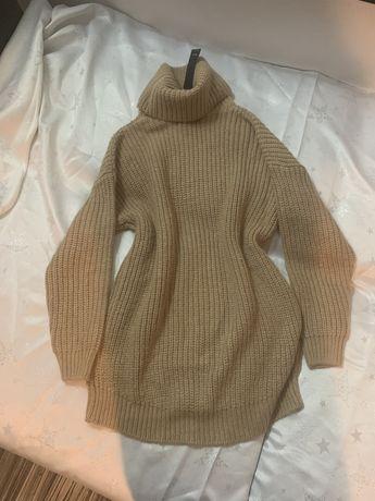 Gruby sweter tunika sukienka reserved s 36 xs 34 nowy