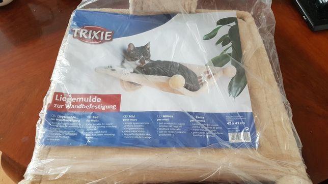 Hamak legowisko na ścianę dla kota trixie nowy 42x41