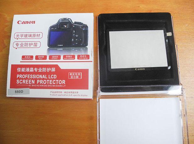 Protetor de tela LCD novo vidro óptico para Canon 6D/60D/ 600D