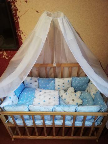 Бортики и постелька в детскую кроватку