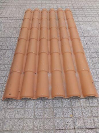 Placas PVC imitação de telha