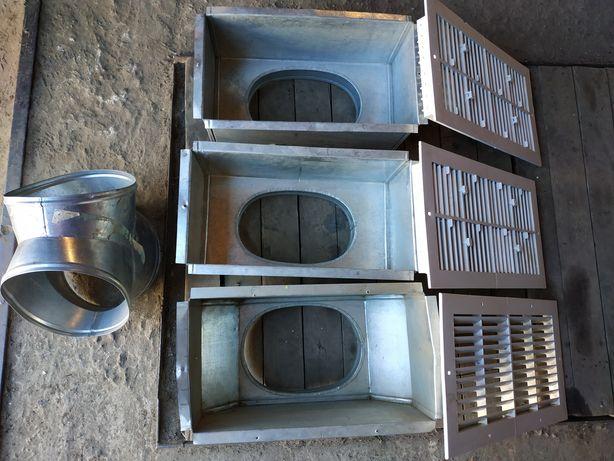 Вентиляционные короба и решётки под гибкую вентиляцию
