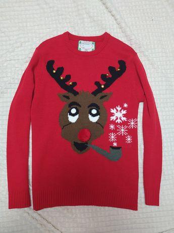 Новогодний свитер олень M