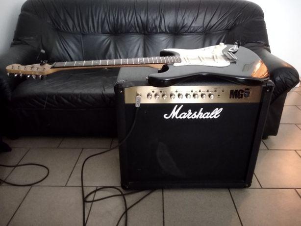 Wzmacniacz MG 101 fx 100 wat i gitara