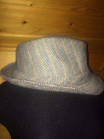Шляпа шапка стильная. Шерсть. Принт английская елочка
