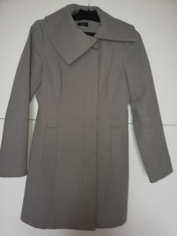 Płaszcz , płaszczyk elegancki, wiosenny, szary