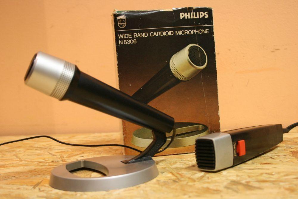 VINTAGE! Mikrofony retro '70 PHILIPS N8306 w pudełku + N8210 .Wysyłam! Nowy Targ - image 1