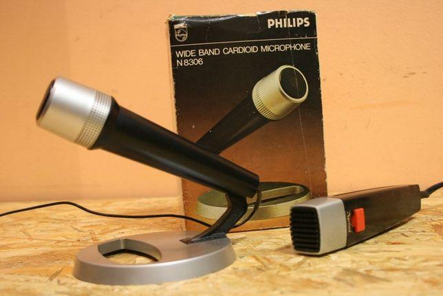 VINTAGE! Mikrofony retro '70 PHILIPS N8306 w pudełku + N8210 .Wysyłam!