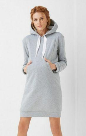 Платье-худи теплое для беременных/кормящих размер S
