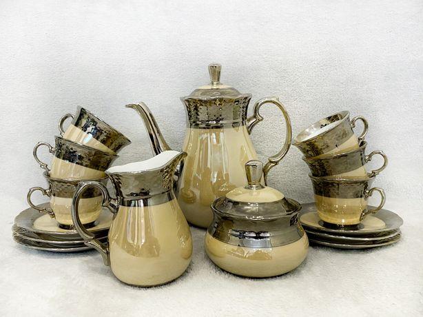 Фарфоровый чайный/кофейный сервиз на 6 персон