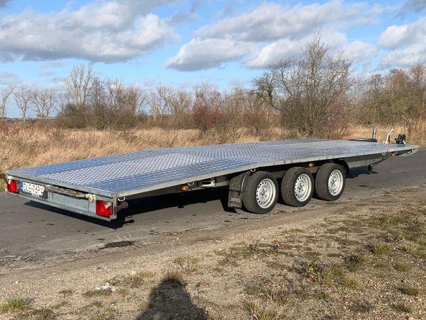 Wynajem Laweta Pod Bus Max Busa Maxi 6m 3osiowa 3500 Ładownosc 2600kg