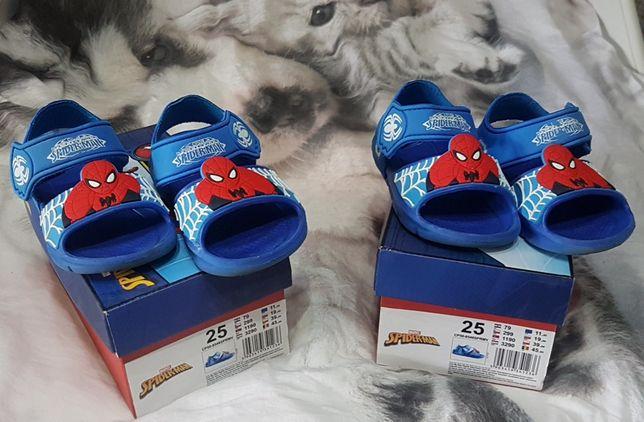 Sandały piankowe dla chłopca / bliźniaków Spiderman Marvel roz. 25