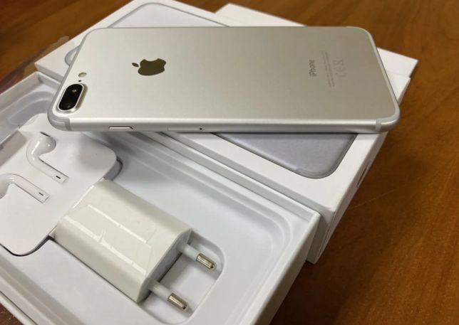 Iphone 7 Plus 128 Gb Silver Neverlock Повний коплект в гарному стані