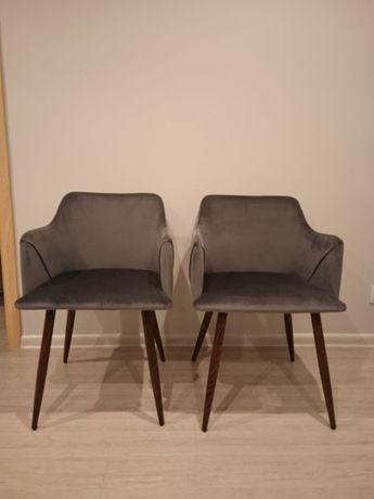 krzesła nowe szare popielate grafit