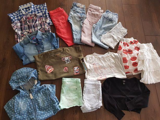 Zestaw ubrań dla dziewczynki r. 134/140