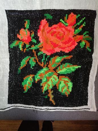 Obraz haftowany róża