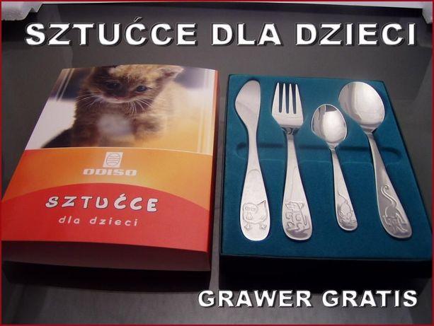 Sztućce dla Dzieci na Chrzest, Roczek - GRAWER gratis !!!