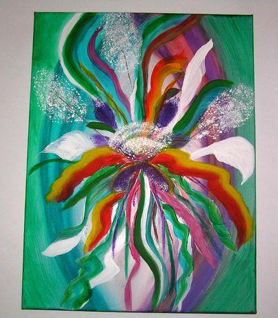 ART-VITO Bukiet obraz malowany ręcznie 40x30
