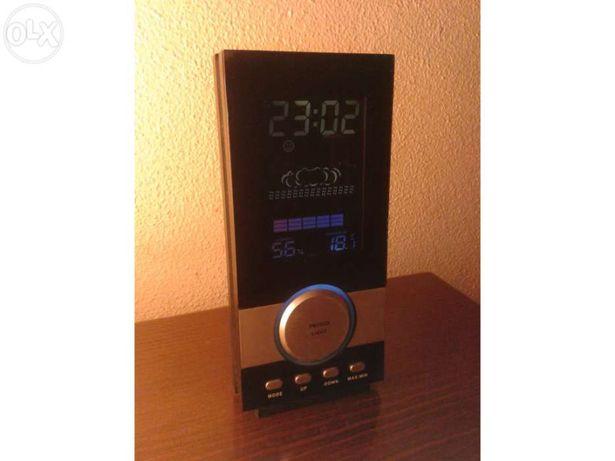Relógio Despertador Estação Meteorológica